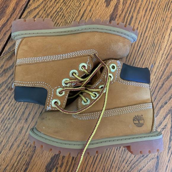 Timberland boots.  Toddler